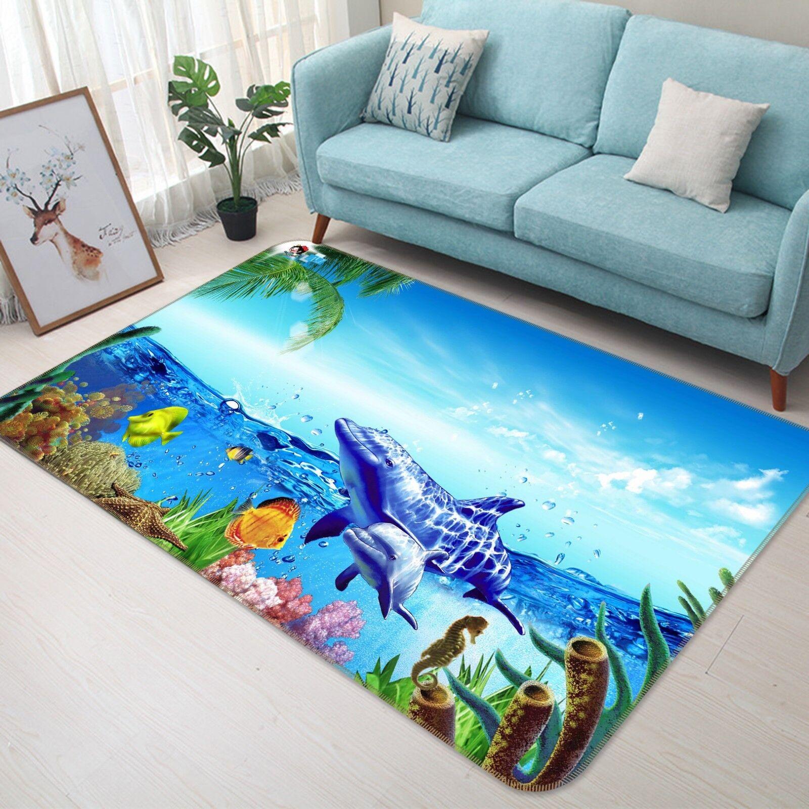 3D Delphin Ozean 155 Non-Slip Carpet Mat Quality Elegant Carpet Carpet Carpet DE Summer 1ff596