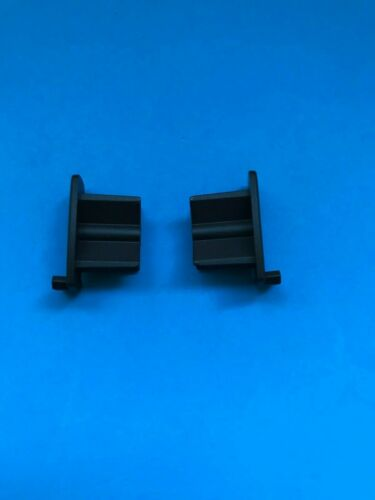 PAIR OF PERFECT FIT ROLLER BLIND END CAPS BROWN