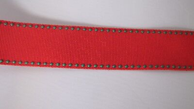 "3 5 LOVELY ELEPHANT RED GREEN DOT 7//8/"" Grosgrain Ribbon 1 10 Yards FROM USA"
