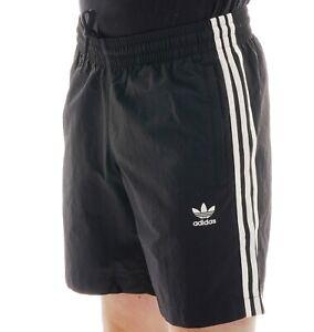 Black /& White Adidas Originals 3 Stripes Shorts BNWT