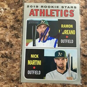 Ramon-Laureano-Signed-2019-Topps-Heritage-Rc-Oakland-Athletics-A-039-s