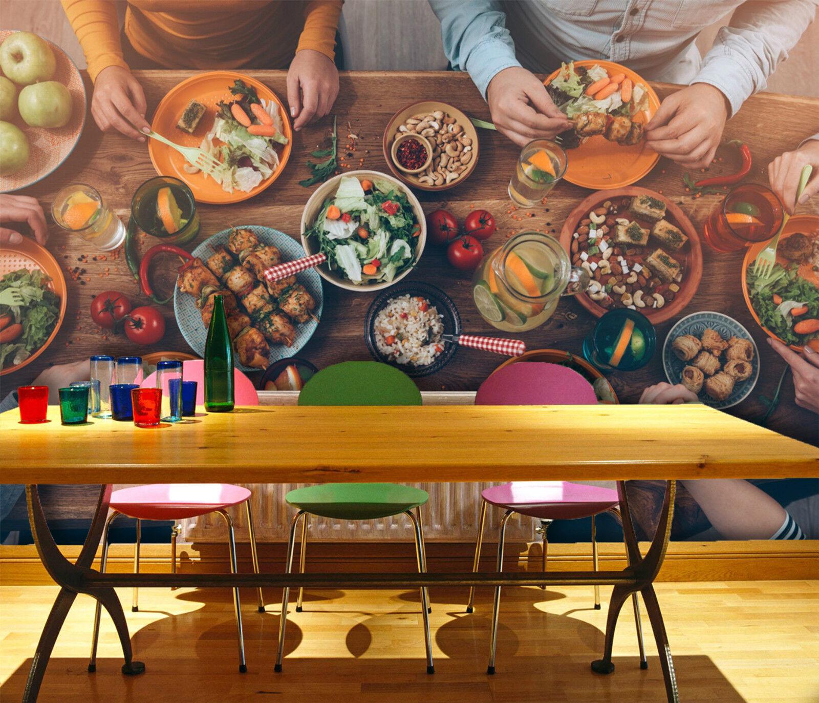 3D Gourmet 3434 Fototapeten Wandbild Fototapete Bild Tapete Familie Kinder DE