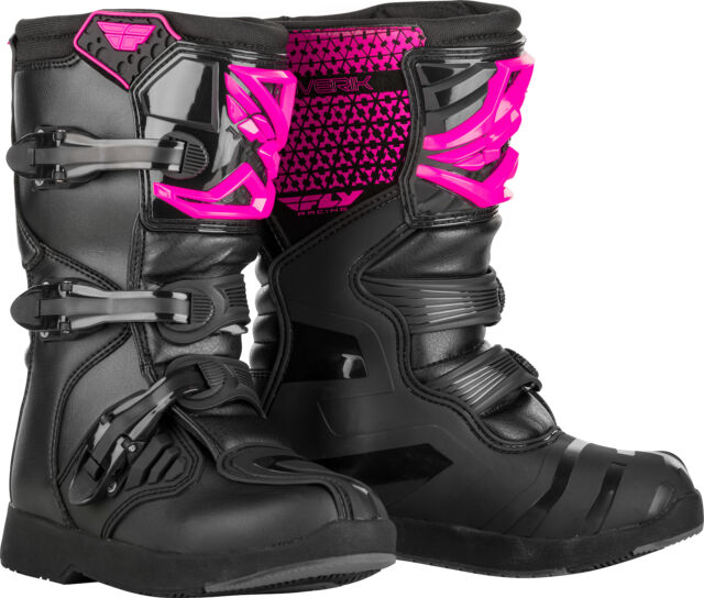 Fly Racing Youth Maverick MX BOOTS Pink