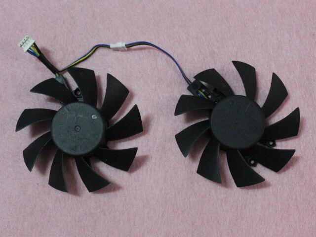 75mm EVERFLOW T128015SH Dual Fan Replacement 17mm x 46mm x 49mm 4Pin 0.32A R221