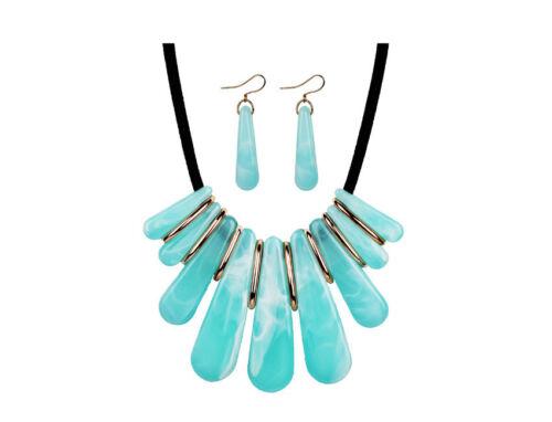 Womens Rhinestone Crystal Earring Necklace Jewelry Set Choker Wedding Engagement