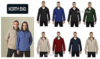 New Ash City North End Men/'s Full ZIPPER Long Sleeve Jacket 88083 Black 703 SALE
