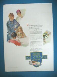 PUBLICITE-ICE-CREAM-PURE-RICH-MILK-FOR-HEALTH-ORIGINAL-VINTAGE-PRINT-AD-1920-039-s