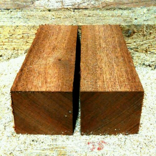 2 Woodturning Woodworking Carving Mahogany Blanks 6x2x2 inch