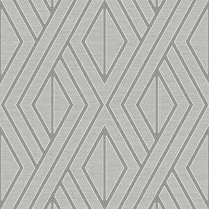 Details Sur Papier Peint Geometrique Gris Argent Poire Arbre Uk30507 Metalique