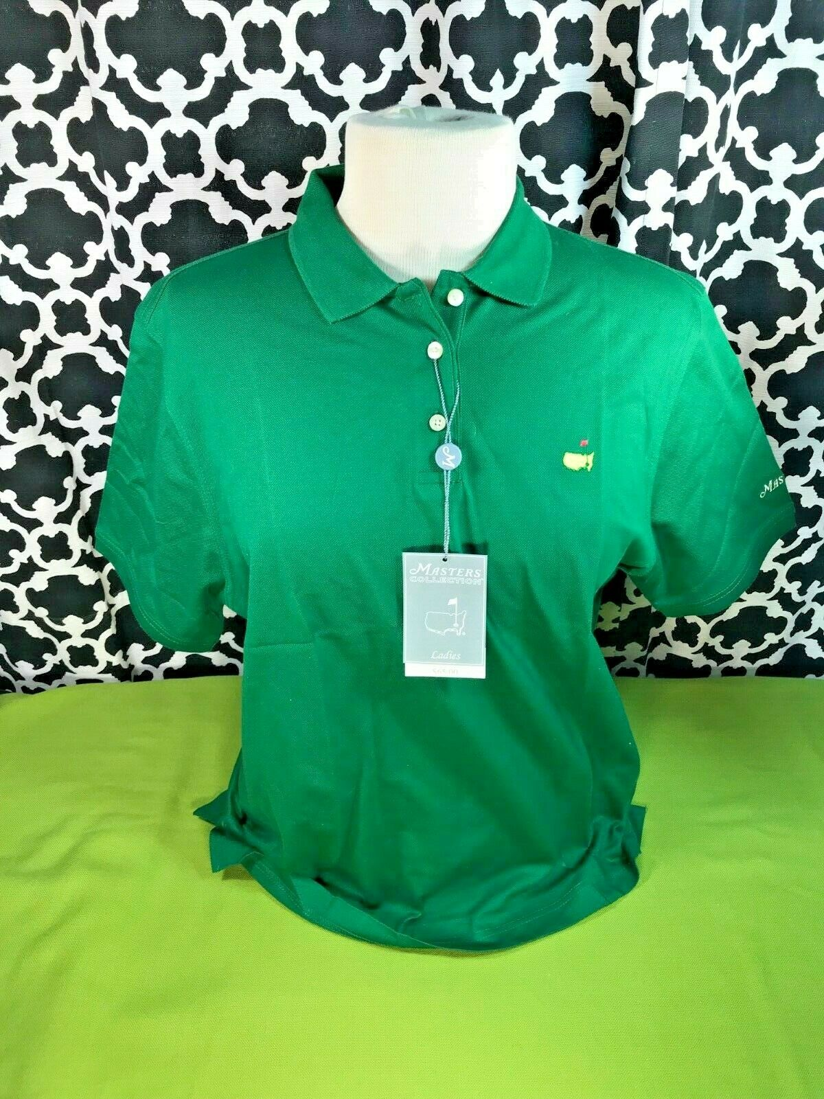 Masters Collection Ladies Augusta National Green Polo - Sz. L - NWT