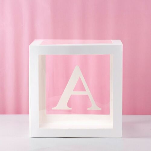 "12/"" Transparent Box Letter A-Z Storage Balloon Baby Shower Birthday Party Decor"