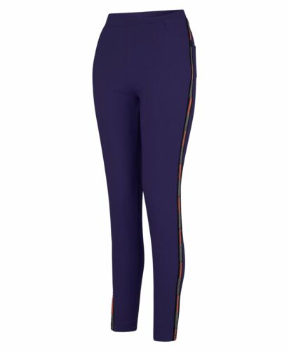 Women Denim Jeggings Ladies Trousers Full Length Inserts Elasticated Waist S-XL