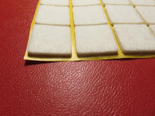 20 Stück Filzgleiter 20 x 20  3mm Selbstkleben weiß