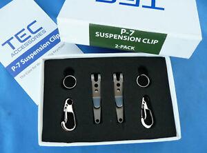 TEC-Accessories-P-7-Suspension-Clip-Set-of-Two-Eliminate-034-Keychain-Bulge-034