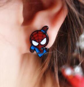 Marvel-Comics-Kawaii-Spiderman-Earrings