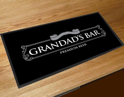Grandad/'s Silver Beer Label Black bar runner