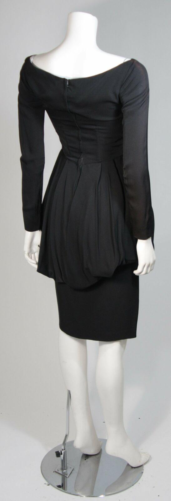 CEIL CHAPMAN Black Draped Princess Style Waist Dr… - image 8