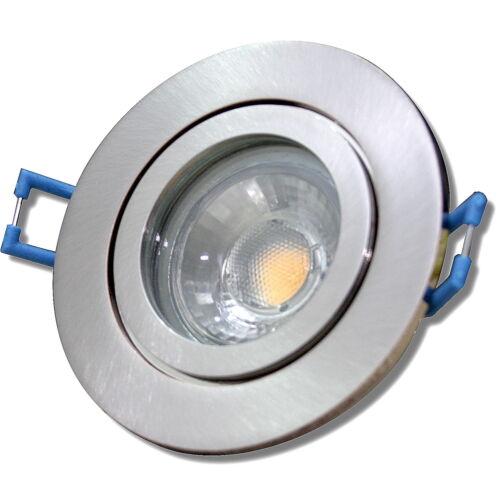 Bad Einbaustrahler220VIP44Warmweiss 3000k Silber3W Feuchtraum LED