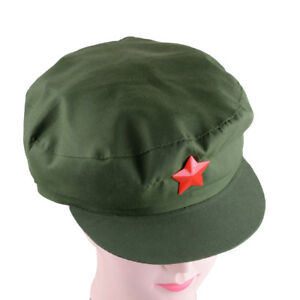 China Chairmen Mao PLA Red Army Soldier Green Star Cap Communist ... 80d55a29e1ba