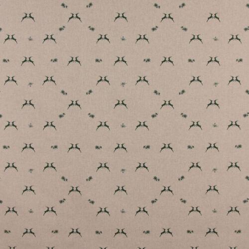 Tischdecke Hirsch Edelweiß natur grün verschiedene Größen SCHÖNER LEBEN