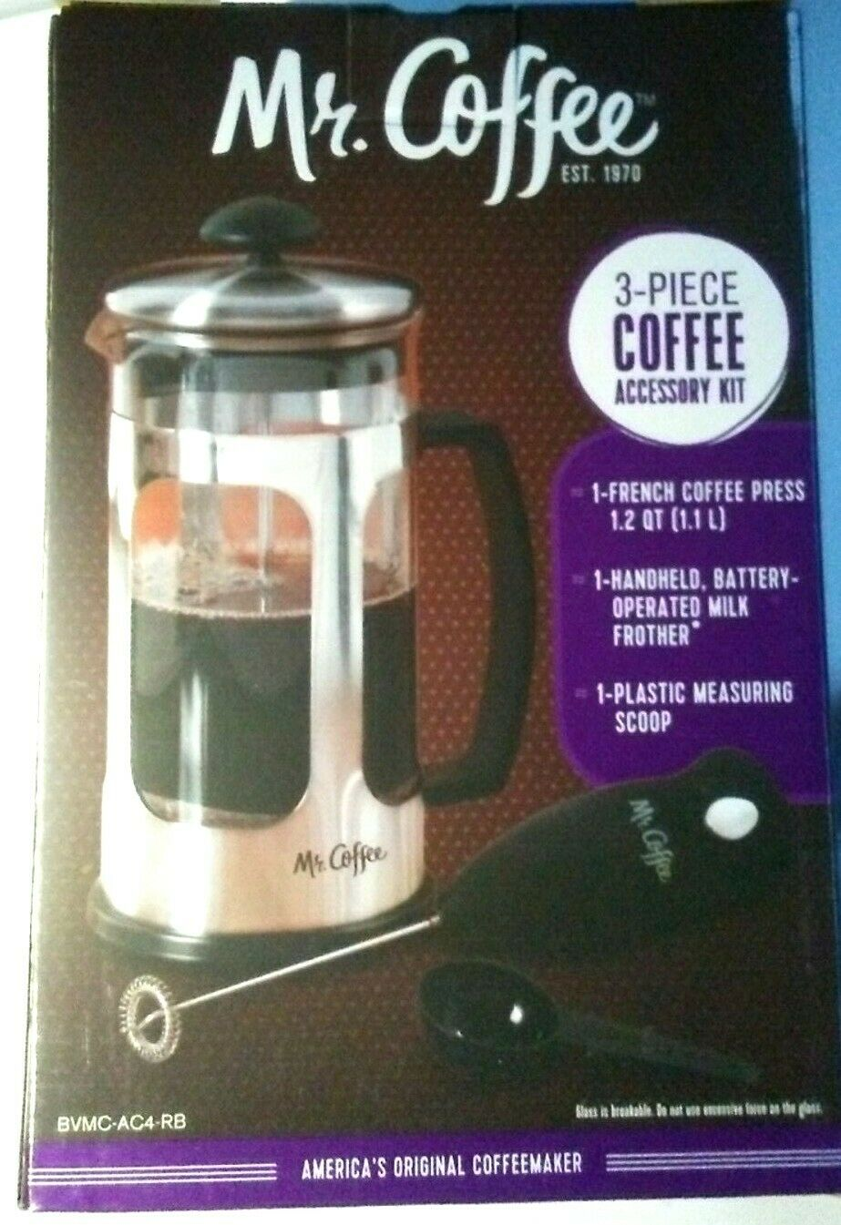 Mr Coffee French Press Coffee Maker With Milk Frother New For Sale Online
