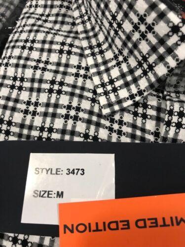 NWT Luchiano Visconti Men/'s Shirt Black and White Medium