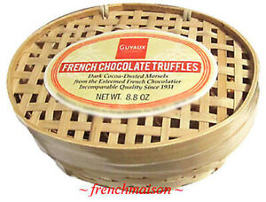 2-Guyaux-Real-Fine-FRENCH-DARK-CHOCOLATE-TRUFFLES-Gift-Basket-Easter-Passover