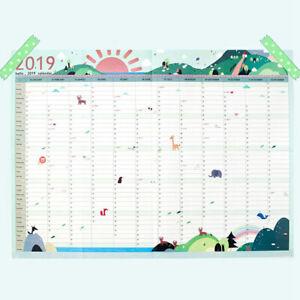 2019-Year-Wall-Planner-Yearly-Annual-Calendar-Chart-Calendar-Schedule-43-58cm