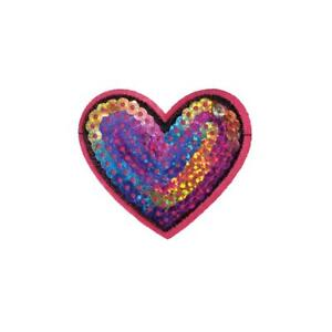 Iron On Sequin Pink Music Notes Embroidery Applique Patch Sew Iron Badge