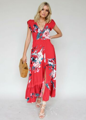 Jaase Maxi Dress Size XL Carmen Red Maxi Dress