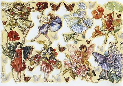 Wunderschön & Rar! Flower Fayries M.barker # Glanzbilder # Mlp 1988 Elfen