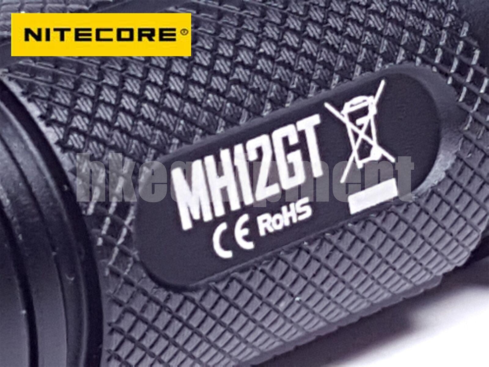 NiteCore MH12GT Cree XP-L HI Rechargeable USB Flashlight+18650 MH12