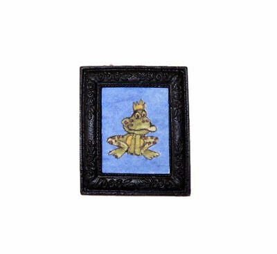 Jeanetta Kendall Antiqued Golden Metal Picture Frame 1:12 Dollhouse Miniature