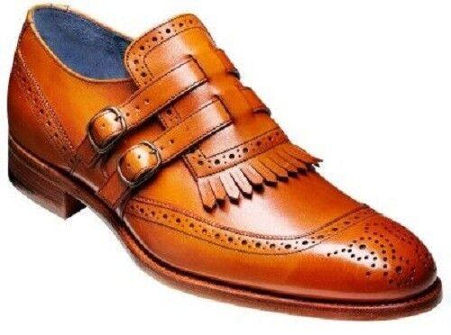 Zapatos de Cuero a De hombre hecho a Cuero mano Bronceado Monje Zapatos, flecos Zapatos, Formal Vestido De Hombre Hombres 96bf4b