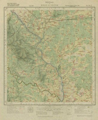 Survey Of India 73 J/11 Jharkhand Dumaria Chakulia Kokpara Baharagora 1928 Map Attractive Designs; Art