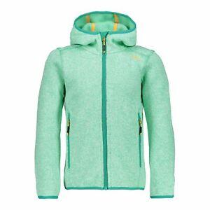 Prudent Cmp Polaire Veste Girl Jacket Fix Hood Turquoise Respirant Saumon Chiné-afficher Le Titre D'origine