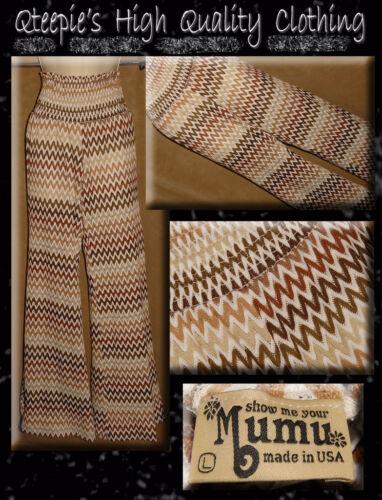 L Knit Brown Beach din Chevron mig Mumu Vis Up Cover Retro Open Bukser Størrelse x61nSOanqw