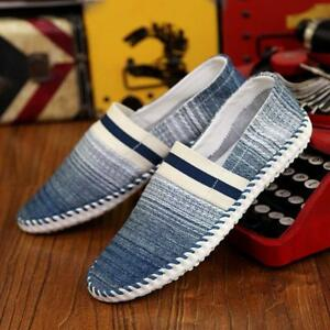 Summer-Men-loafers-canvas-comfy-Breathable-driving-gommino-slip-on-flat-shoes-sz