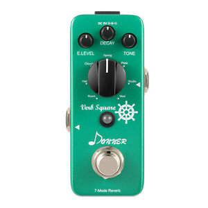 Best-Digital-Reverb-Guitar-Effect-Pedal-Verb-Square-7-Modes-Local-Shipping