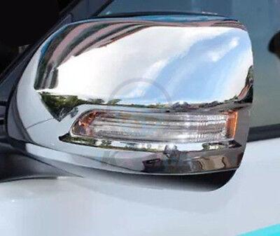 For Toyota Prado FJ150 2010-18 Chrome Rear View Side Door Mirror Cover Trim