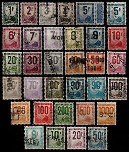 Serie-COLIS-POSTAUX-de-1944-54-Obliteres-Cote-206-Lot-Timbres-France