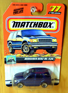 Matchbox-Mercedes-Benz-ML-430-2000-logo-Hunt-New-Sealed-VHTF