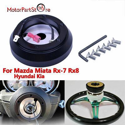 NRG STEERING WHEEL RACE HUB KIT MAZDA MIATA RX-7 RX-8 PROTEGE //TIBURON //GENESIS