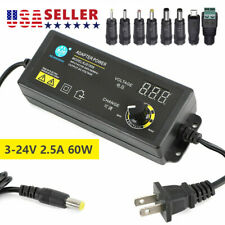 Adjustable Power Supplies 3 To 24v Ac Dc Switch Power Supply Adapter With Display