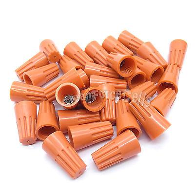 20 pcs Orange P3 Screw On Nuts Standard Type Twist On Barrel Wire Connectors