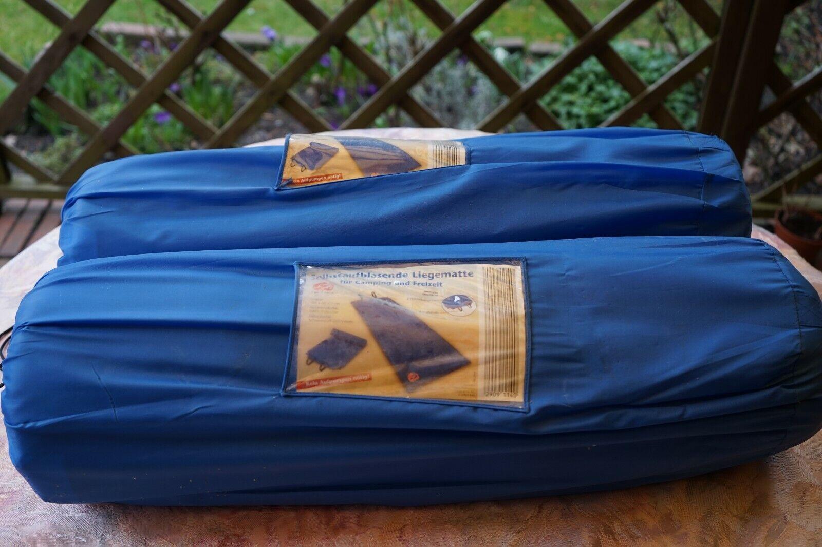 2xSelbstaufblasede Liegematte für Camping und Freizeit+2xLiegematte