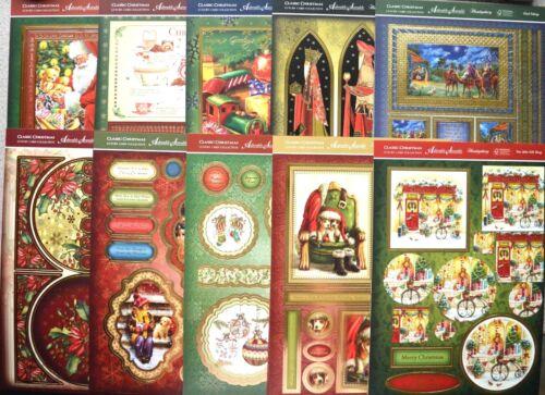 Clásico de Navidad frustrado A4 Hunkydory Toppers /& Tarjeta De Juego A4 Nuevo