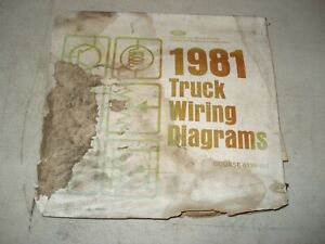 1981 FORD TRUCK WIRING DIAGRAMS SERVICE MANUAL F SERIES ...