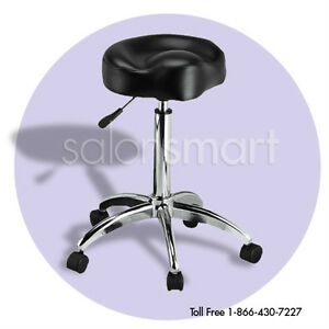 SALON-STOOL-ROLLING-SADDLE-TATTOO-MANICURE-PEDICURE