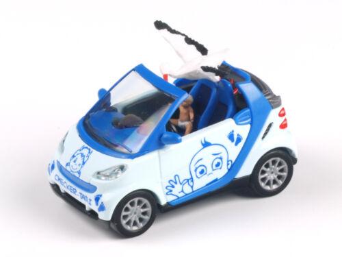 "1:87 Neuf neuf dans sa boîte Busch 99055 Smart Cabriolet /""Bébé à Bord/"" Garçon Spécial Série 250 Pcs"